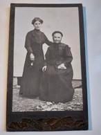 Photo CDV  Photographie De Famille Mère Et Fille En Pose - Dos Muet - Circa 1900  BE - Oud (voor 1900)