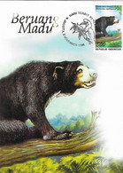 Carte Maximum1996 Indonésie - Ours