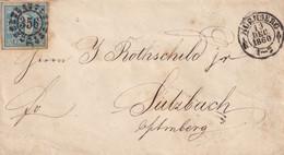 NORIMBERGA 3 Kr. Azzurro Per Sulzbach 13.12.1860 - Bayern (Baviera)