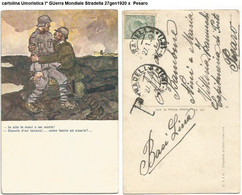 Cartolina Umoristica I° GUerra Mondiale Stradella 27gen1920 X Pesaro - - Humor