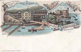 GRIGNANO-TRIESTE-GRUSS AUS-CARTOLINA LITHO NON VIAGGIATA -1898-1904 - Trieste