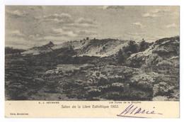 Adriaan Joseph Heymans - Les Dunes De La Bruyere - Salon De La Libre Esthetique Gel. 1902 - Pittura & Quadri