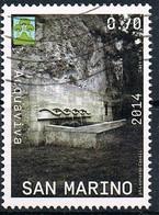 2014 - SAN MARINO - CASTELLI SANMARINESI - FONTANA DI ACQUAVIVA  / SANMARINESE CASTLES - FOUNTAIN OF ACQUAVIVA . USATO - Gebraucht