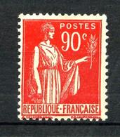 285 - 90c Rouge Carminé Type Paix - Neuf N** - Très Beau - 1932-39 Peace
