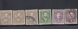 Paraguay, Scott #32, 32, 32, 34, 36, 36, Mint Hinged/Used, Rivarola, Jovellanos, Uriarte, Issued 1892 - Paraguay