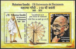 URUGUAY , 2019, MNH, GANDHI, S/SHEET - Mahatma Gandhi