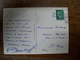 France - Oblitération De Fortune - Annulation Linéaire De St MAX 54-482  (54) -  Sur CPSM - Manual Postmarks