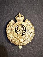Cap Badge Royal Engineers - Insigne De Casquette - BEF 1914-1918 - Génie Militaire - Armée Britannique Smith & Wright Lt - 1914-18