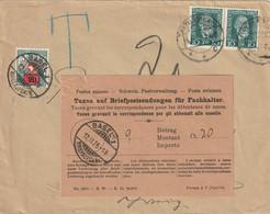 Taxe  20C Sur Lettre D'Allemagne Avec Papillon Taxe Grevant Les Correspondances Pour Les Détenteurs De Case 12 11 25 - Strafportzegels