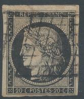 Lot N°59257   N°3, Oblit Grille De 1849, Bonnes Marges, Léger Clair - 1849-1850 Ceres