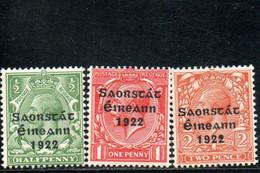 IRLANDE 1922 * - Ongebruikt