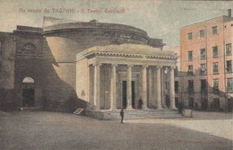 TRAPANI-IL TEATRO GARIBALDI-CARTOLINA VIAGGIATA NEL 1909 - Trapani