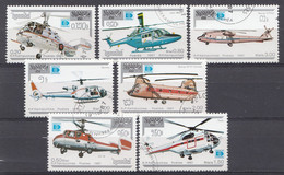 Cambodja 1987 MI.NR. 890-896  Hubschrauber  USED / GEBRUIKT / OBLITERE - Camboya