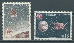 Monaco YT N°666-667 Union Internationale Des Télécommunications Oblitéré ° - Used Stamps