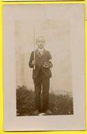 Snapshot Enfant Kid Boy Garçon Communion Communiant Rppc Carte Photo Superbe Portrait - Persone Anonimi