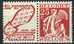 België PU65 ** - Impercuir (zoolleder) - Advertising