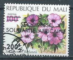 Mali YT N°206 Satanocrater Berhantii Surchargé Sécheresse Solidarité Africaine Oblitéré ° - Malí (1959-...)