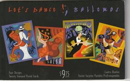 Let's Dance! Bailemos Four Designs Cuatro Disenos Twenty Stamped Postal Cards Mambo Cha Cha Cha Salsa Merengue - Dans