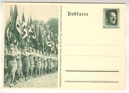 """1937, """" Reichsparteitag Nürnberg """", Propaganda -Ganzsache, P264, Politische Leiter - Stamped Stationery"""