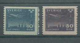 200037286  SUECIA  YVERT  AEREO  Nº  4/5  **/MNH - Unused Stamps