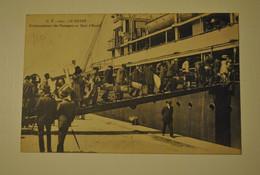 76 Seine Maritime Le Havre Embarquement Des Passagers Au Quai D'escale Cachet Train Semi Permanent N° 25 - Haven