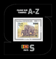 CAR 2020 Mih. 9849 (Bl.2038) Fauna. WWF Stamps On Stamps. Sri Lanka. Sri Lankan Elephant MNH ** - Centrafricaine (République)