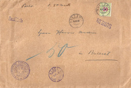 """Taxierter Amtlicher Brief  """"Postdirection Basel""""  Basel - Bretzwil           1896 - Strafportzegels"""