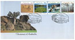(V 26) Australia - FDC - Panorama Of Australia - 1980 (2 Covers) - Sobre Primer Día (FDC)