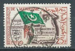 Mauritanie YT N°154 Fête De L'indépendance Oblitéré ° - Mauritania (1960-...)