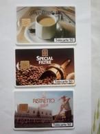 FRANCE PRIVEE EN1288 EN 1289 EN 1290 SERIE 3 CARTES NESTLE CAFE 50U UT - 50 Unità
