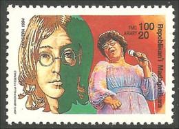 588 Madagascar John Lennon Beatles Ella Fitzgerald Music Musique MNH ** Neuf SC (MDG-57b) - Muziek
