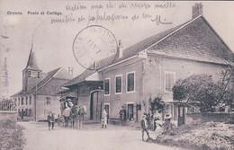 Orzens VD, Diligence Devant Le Bureau De Poste Et Collège, Attelage (7.10.1911) - VD Vaud