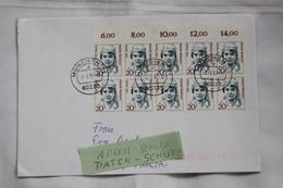 Berühmte Frauen, Michel Nr. 1365, 20 Pfennig, Mit Oberrand MeF Auf Brief, Portogerecht, Gelaufen - Brieven En Documenten