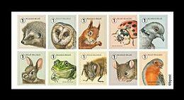 Belgium 2020 Mih. 4997/5006 Fauna. Garden Visitors. Hedgehog. Owl. Squirrel. Ladybug. Birds. Rabbit. Frog. Bee MNH ** - Ungebraucht