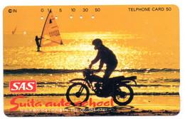 Moto Motorbike Coucher De Soleil Télécarte Phonecard Japon (D 1048) - Moto