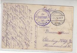 Feldpost Aus Dem Etappen-Bierlager CONFLANS 7.5.16 AK-Buxieres - Brieven En Documenten