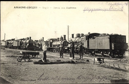 CPA Amagne Lucquy Ardennes, Depot, Sortie Des Machines, Dampflok - Otros Municipios