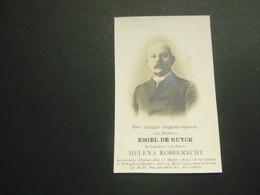 Doodsprentje ( 3682 )   De Ruyck / Robberecht  -  Petegem / Deinze   1909 - Avvisi Di Necrologio