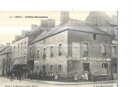 LESSAY  N 15  L HOTEL MANAUTINES     PERSONNAGES GROS PLAN Defaut Papier Haut Droite     DEPT 50 - Otros Municipios
