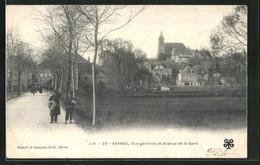 CPA Vayrac, Vue Générale Et Avenue De La Gare - Vayrac