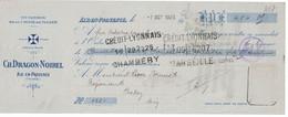1925 HUILERIE DE LA CROIX DE MALTE CH. DRAGON-NOIREL AIX-EN-PROVENCE - Lettres De Change