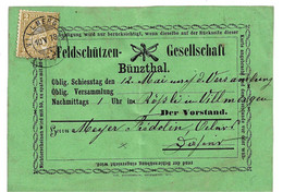 CH044 / SCHWEIZ - Bünzthal. Heimatbeleg 1878, Marke War Abgefallen Und Wurde Verschoben Neu Befestigt - Storia Postale