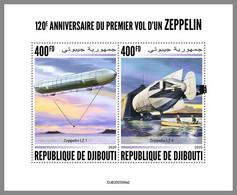 DJIBOUTI 2020 MNH 1st Flight Zeppelin Erstflug 1er Vol Du Zeppelin 800FD M/S - OFFICIAL ISSUE - DHQ2044 - Zeppelins