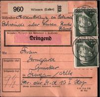 ! 1943 Winsen, Luhe Nach Torgau, Landpoststempel Schwinde über Winsen, Paketkarte, Deutsches Reich, 3. Reich - Brieven En Documenten