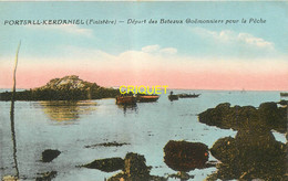 29 Portsall-Kerdaniel, Départ Des Bateaux Goëmoniers Pour La Pêche - Other Municipalities