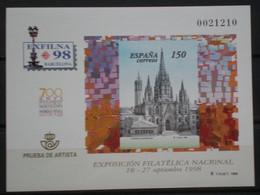 ESPAÑA PRUEBA OFICIAL - LOTE DE - 8 PRUEBAS OFICIALES - EDIFIL Nº 66- 68- 70- 71- 73- 74- 83 - 85 - Fogli Ricordo