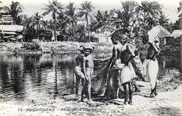 Inde - Pondichery - Pêcheurs D' Etangs - India
