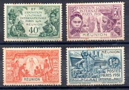 Réunion Y&T 119* - 122* (tâches De Rousseur) - Unused Stamps