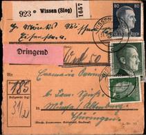 ! 1943 Wissen, Sieg Nach Altenburg, Paketkarte, Deutsches Reich, 3. Reich - Covers & Documents