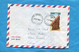 MARCOPHILIE-lettre+thematic Stamps-CONGO-cad  Pointe Noire- StampsN°872 Masque De Danse - Mint/hinged